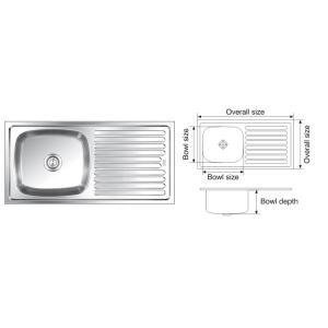 Nirali Elegance Satin Finish Kitchen Sink, Size: 1000x510 Mm